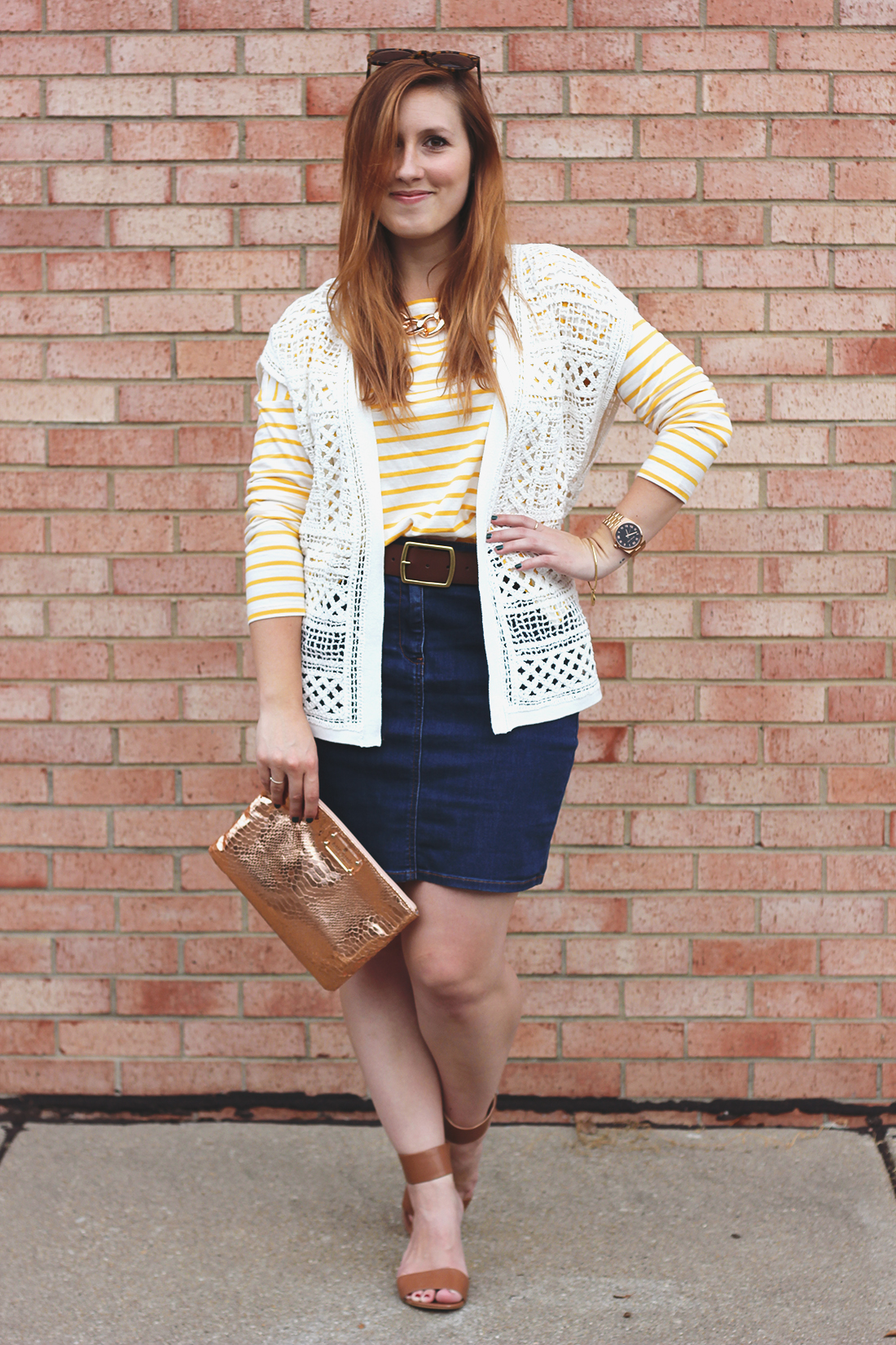 yellow-striped-shirt-denim-skirt-6