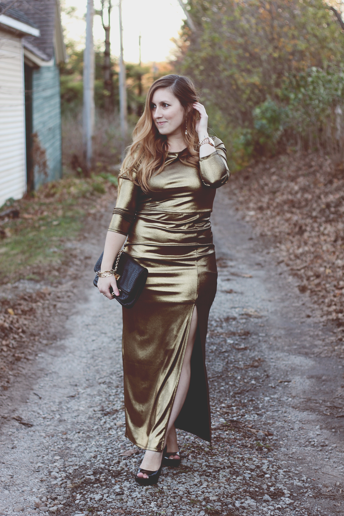gold-maxi-dress-movie-premier-holiday-outfit-1