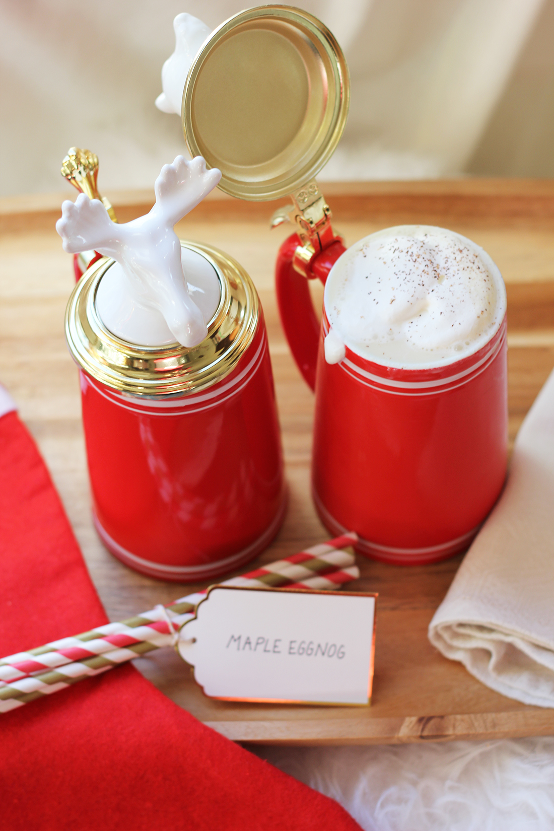 Maple Bourbon Eggnog | HomemadeBanana
