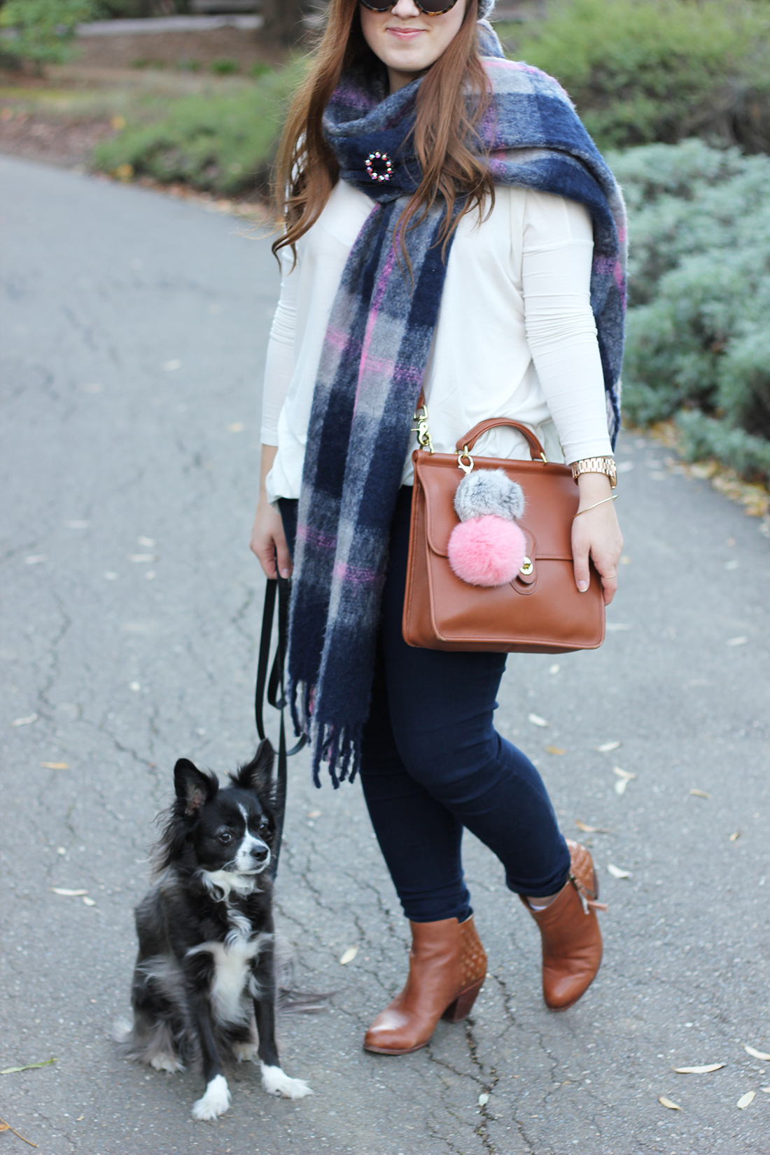 plaid-scarf-knit-beanie-pompom-2