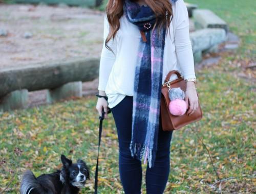 plaid-scarf-knit-beanie-pompom-9