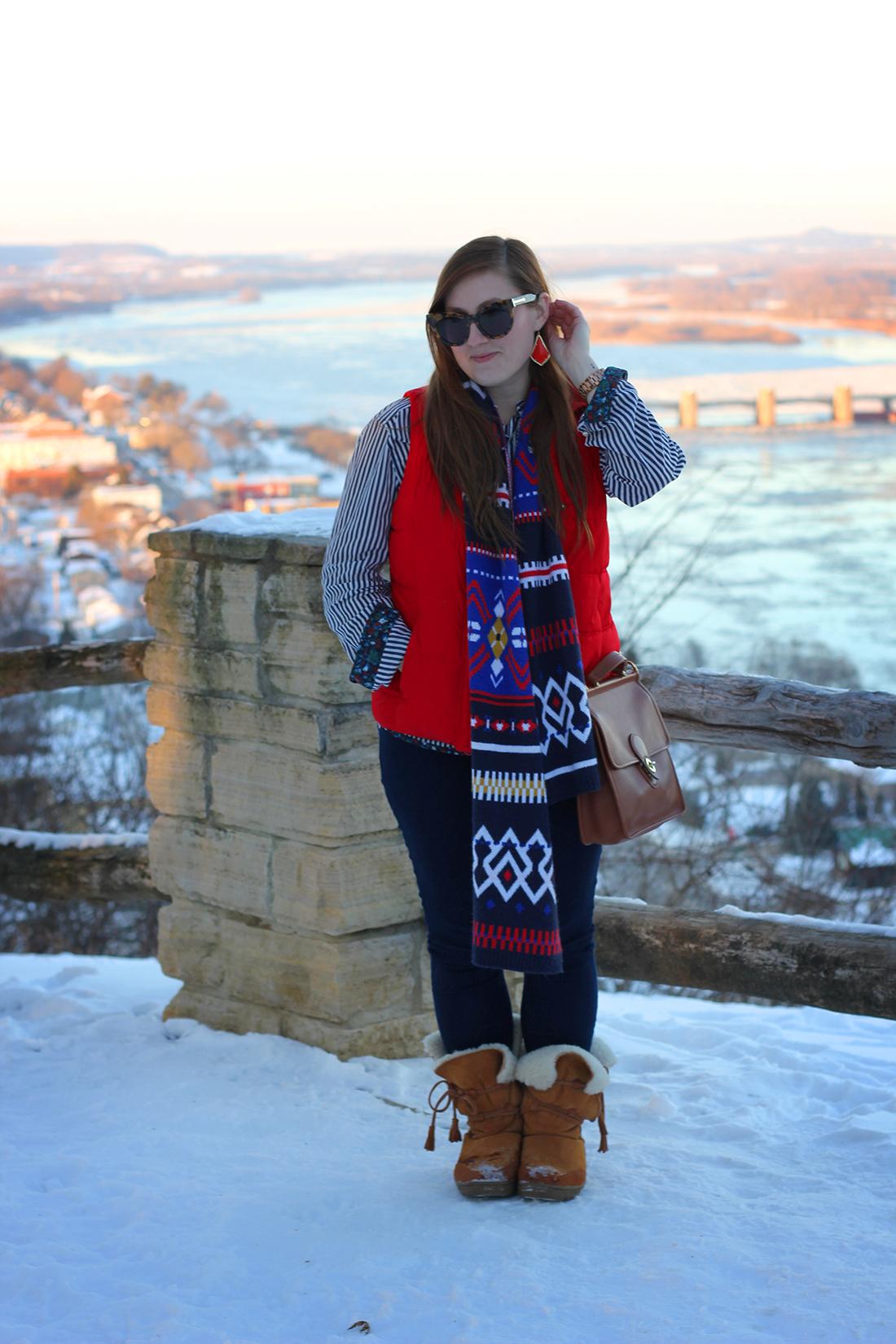 fair-isle-knit-scarf-puffy-vest-shearling-1