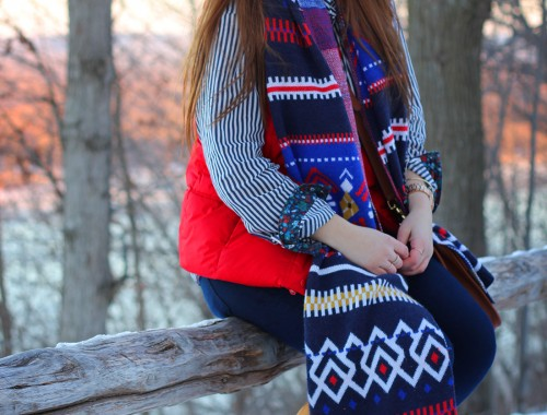 fair-isle-knit-scarf-puffy-vest-shearling-10