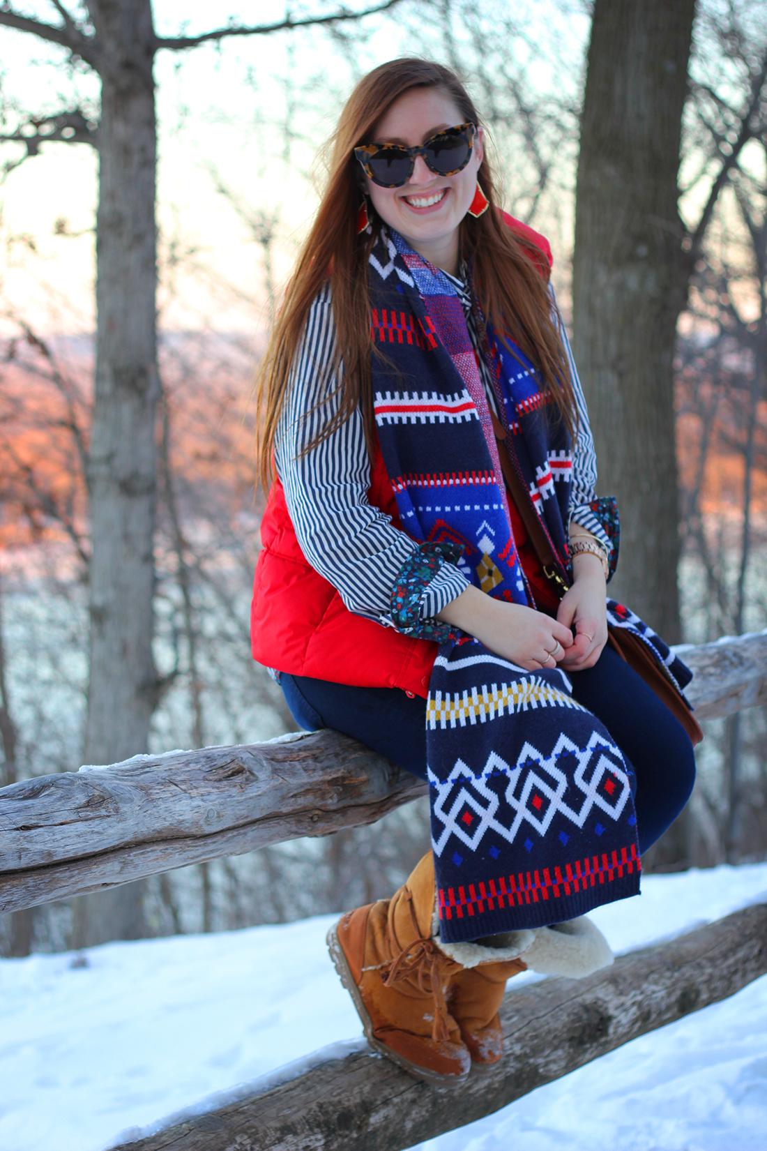 fair-isle-knit-scarf-puffy-vest-shearling-10
