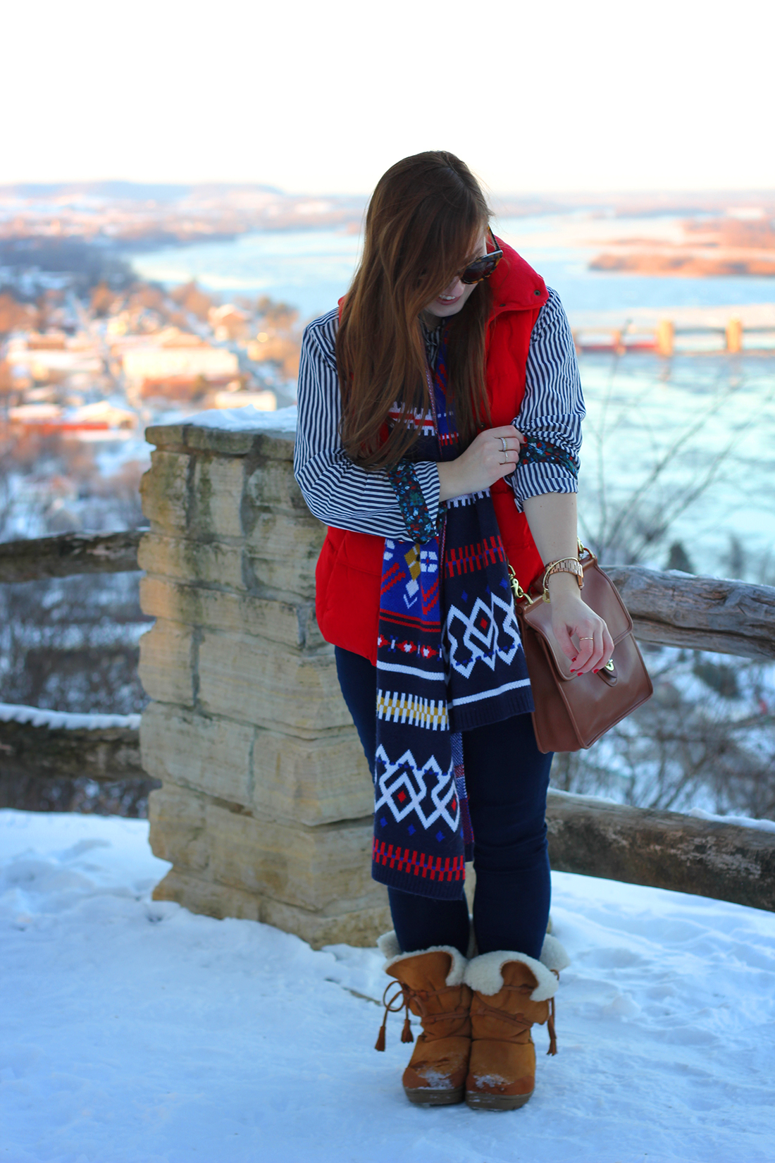 fair-isle-knit-scarf-puffy-vest-shearling-3