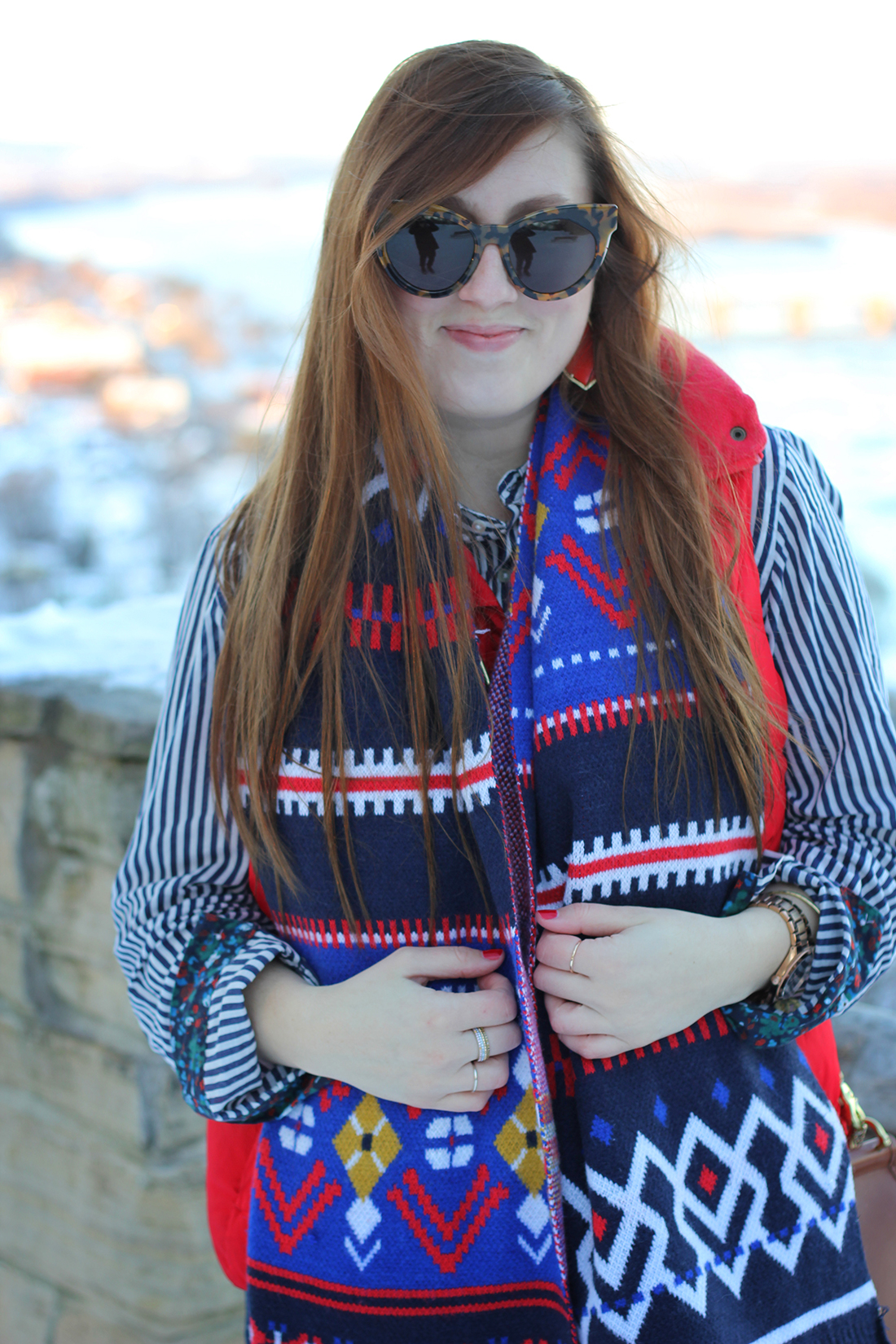 fair-isle-knit-scarf-puffy-vest-shearling-5