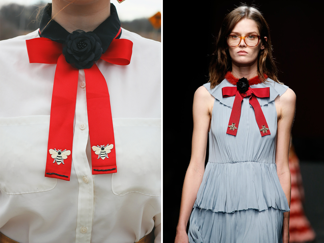 DIY Gucci-Inspired Bow Tie