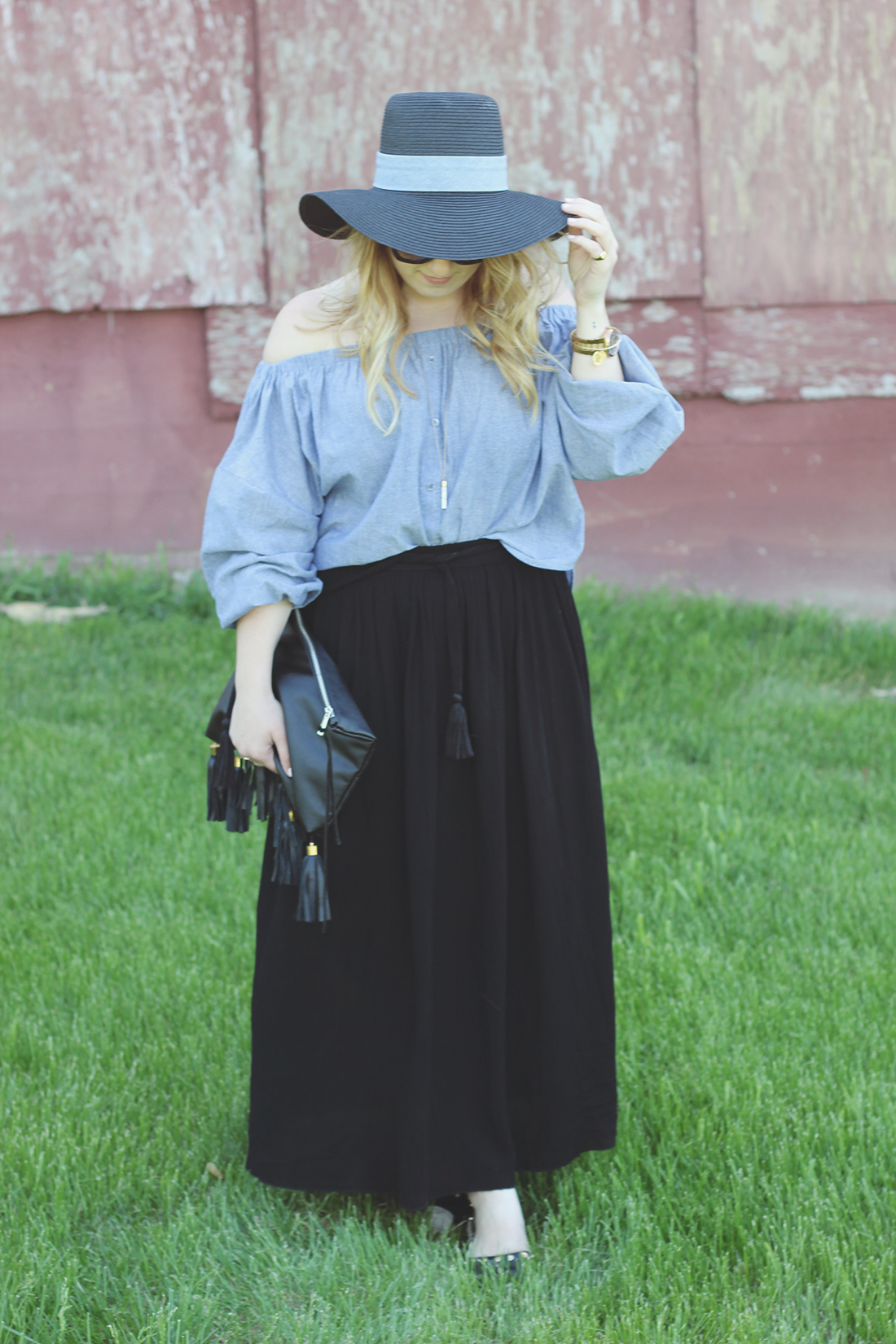 chambray-off-the-shoulder-top-panama-hat-2 copy