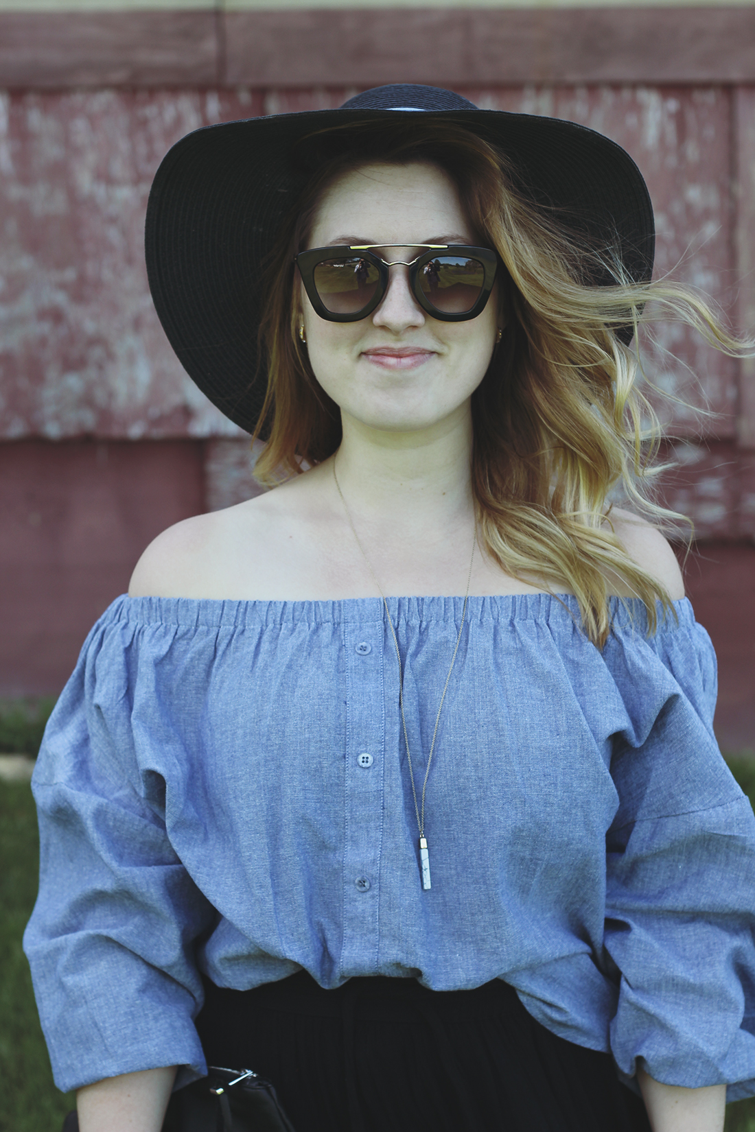 chambray-off-the-shoulder-top-panama-hat-6