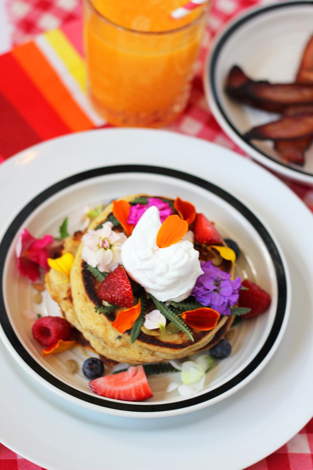 multigrain-ricotta-pancakes-edible-flowers-14