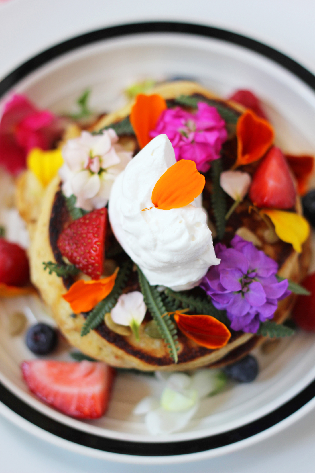 multigrain-ricotta-pancakes-edible-flowers-17