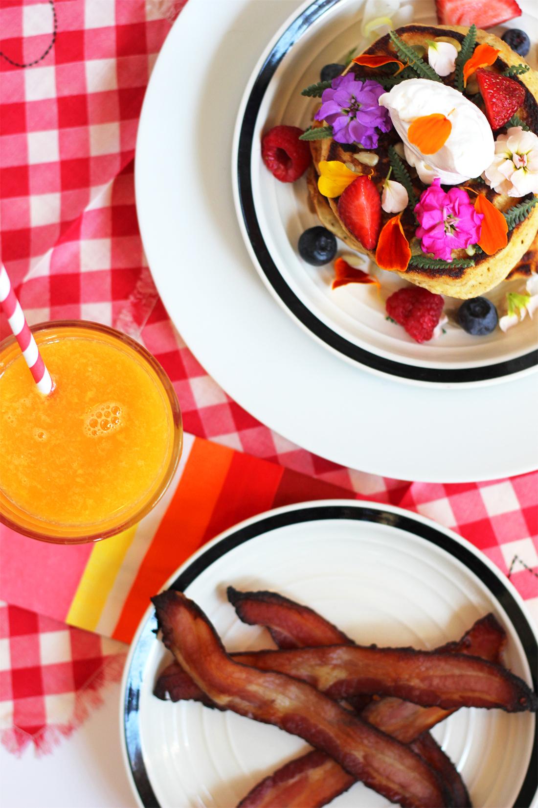 multigrain-ricotta-pancakes-edible-flowers-3