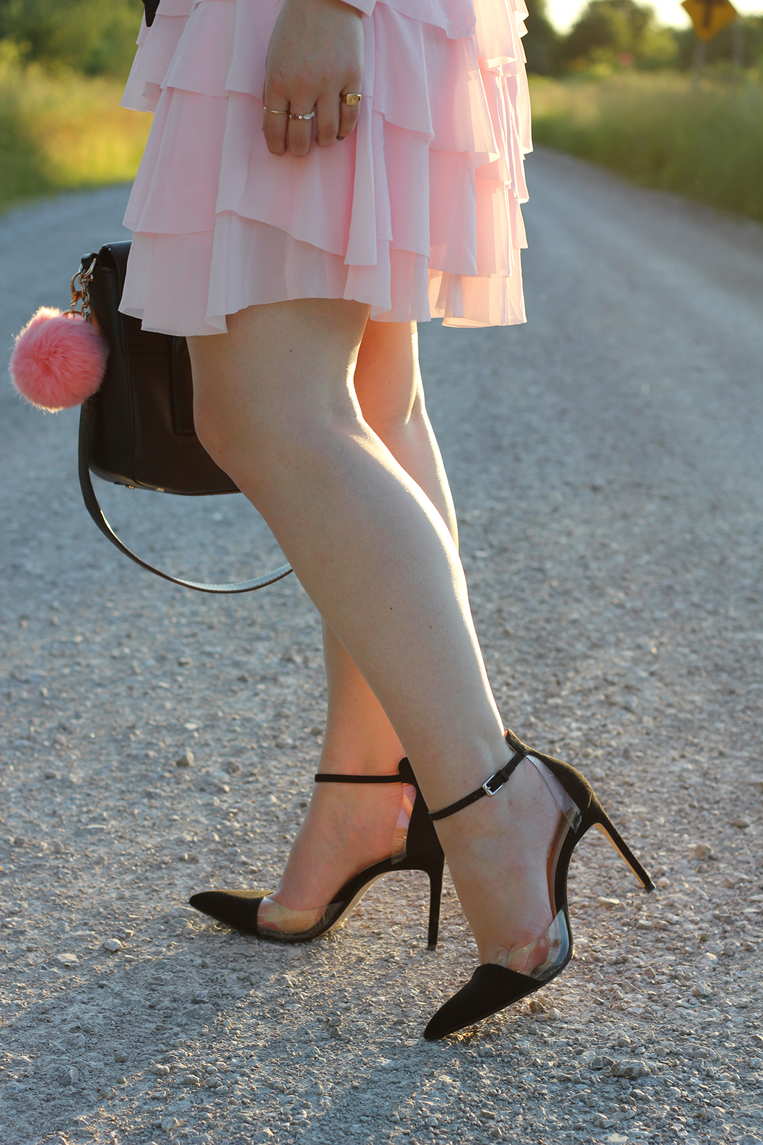 pink-ruffle-dress-skinny-scarf-7
