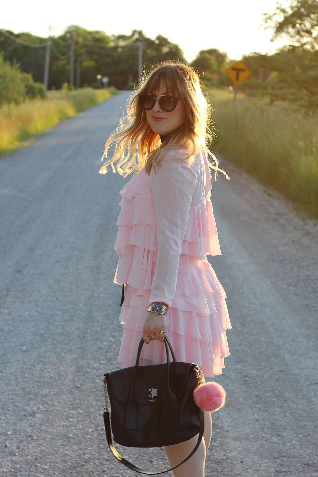 pink-ruffle-dress-skinny-scarf-8