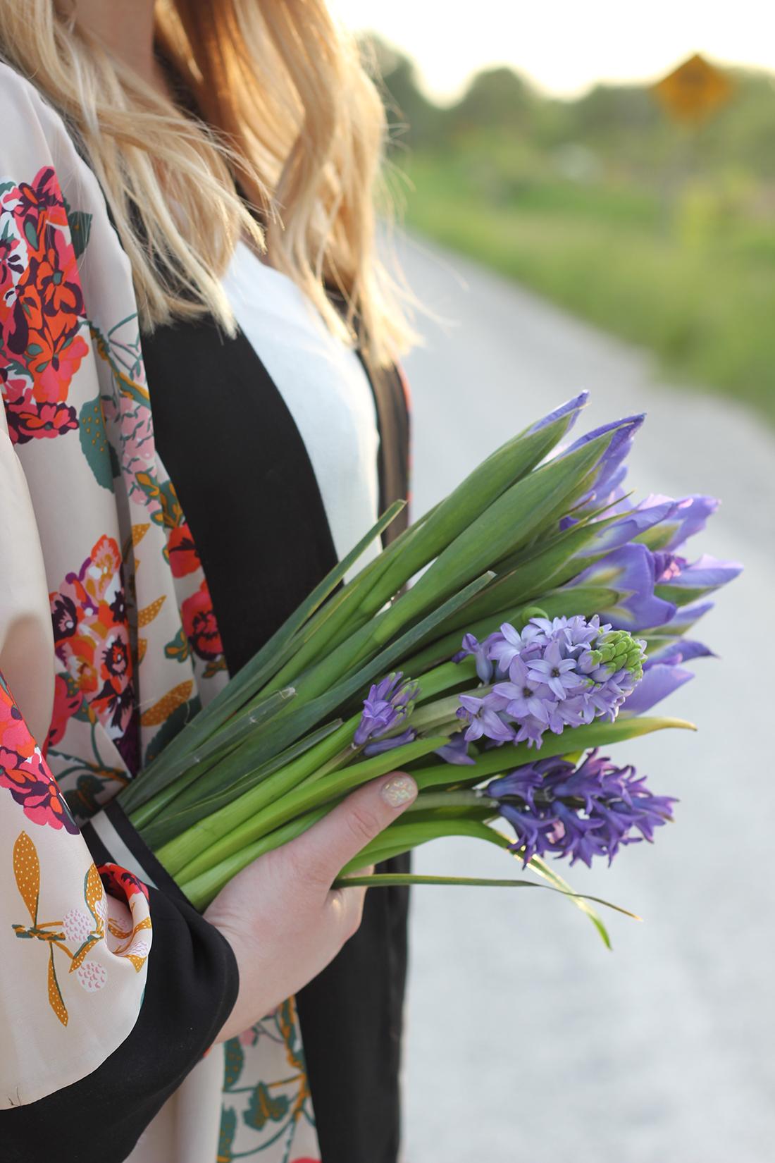 floral-kimono-gold-pleated-skirt-1