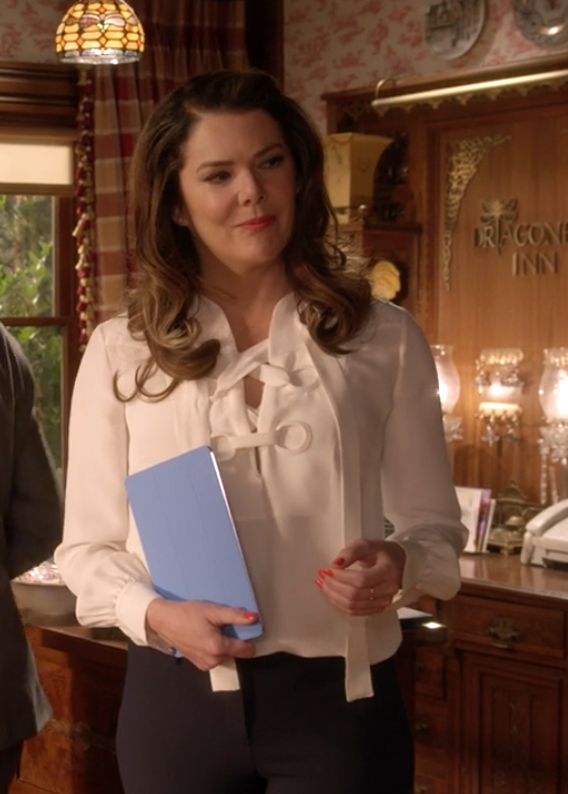 Gilmore Girls: A Year in the Life Lorelai Lace-Up Silk Blouse Derek Lam