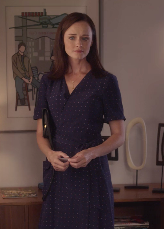 Gilmore Girls: A Year in the Life Rory Dot Print Silk Shirtdress Frame