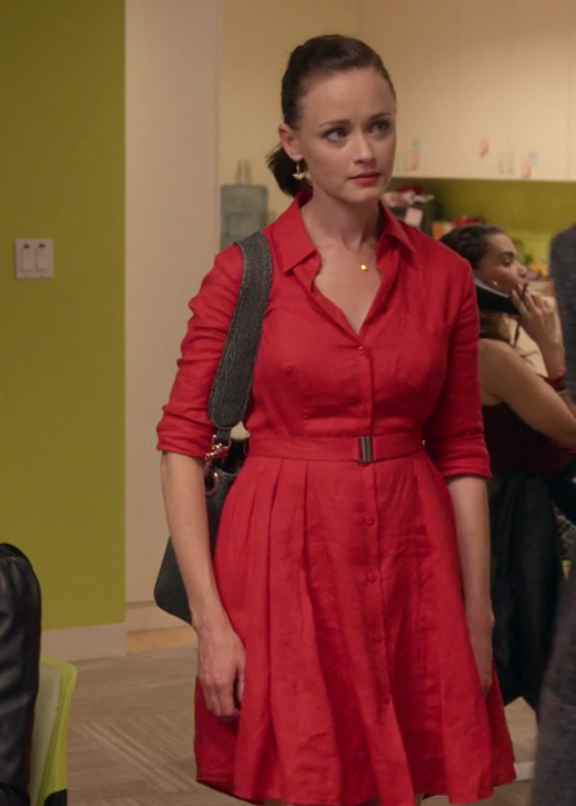 Gilmore Girls: A Year in the Life Rory Lucky Red Dress Full Skirt Anthropologie