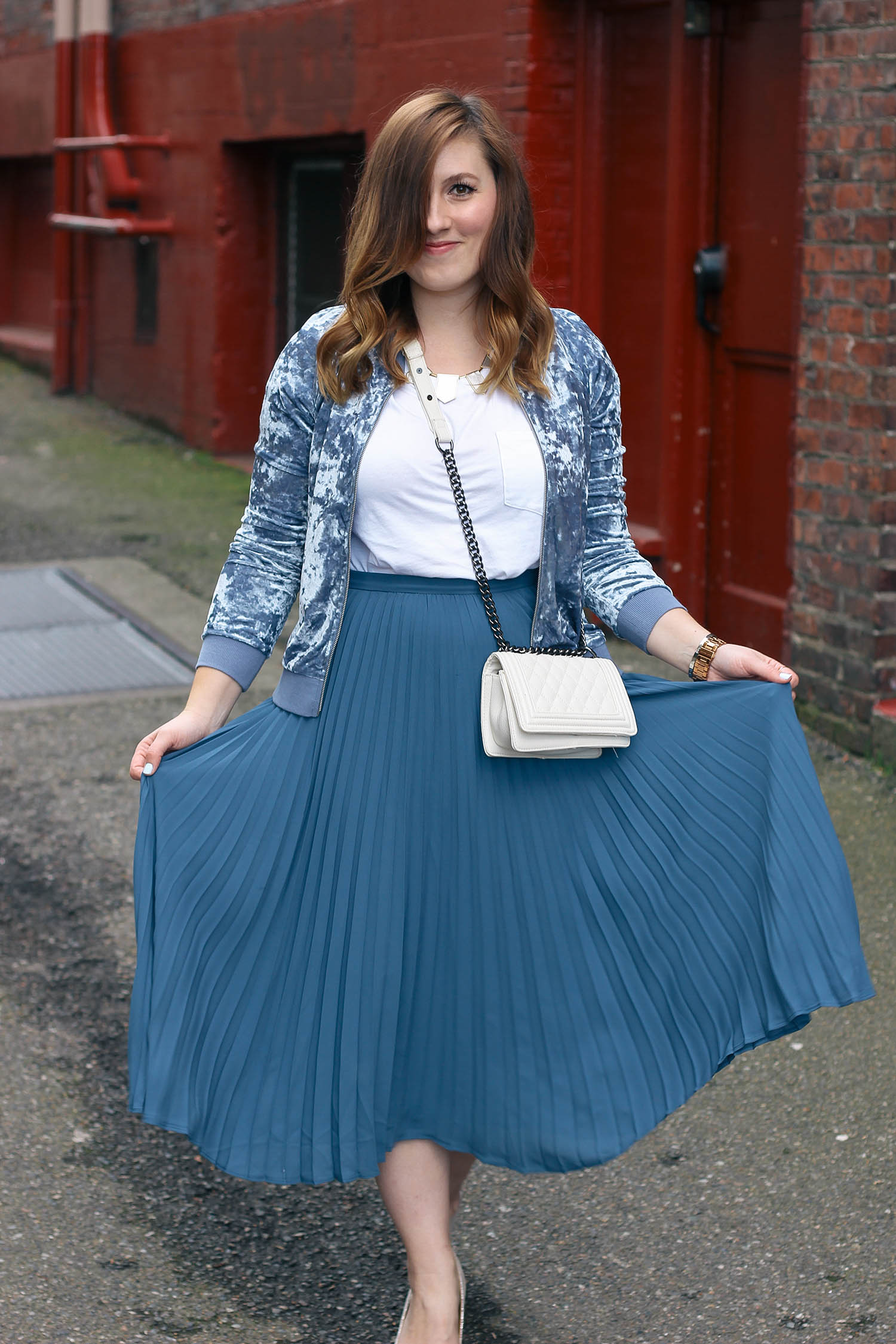 velvet-bomber-pleated-midi-skirt-2