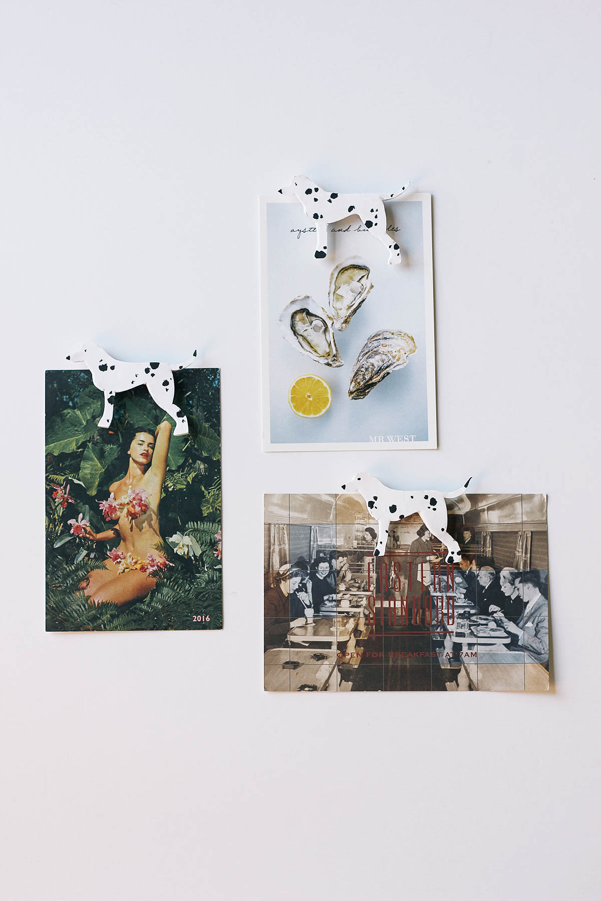 Dress up your refrigerator with these charming DIY dalmatian magnets made from oven-bake clay.