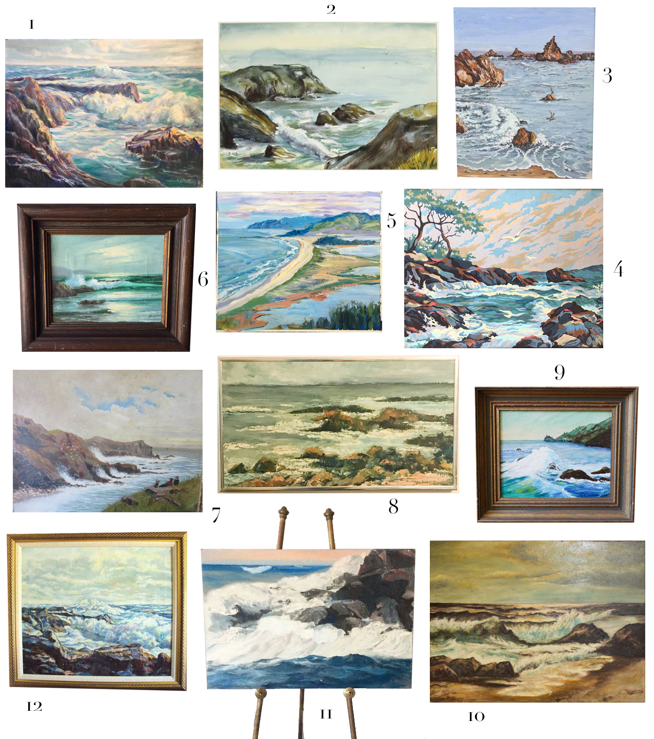 Combine vintage style and seaside charm with a collection of antique seascapes sourced from Etsy. #interiordesign #roundup #etsy #nautical
