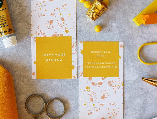 Completely customize your business cards with @basicinvite // Get all the details at HomemadeBanana.com #ad #creative #colors
