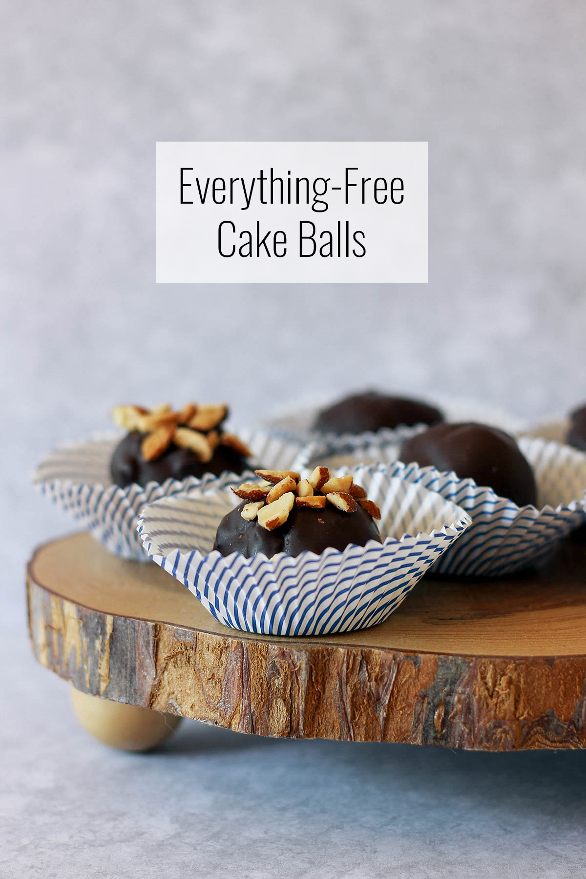 Made without dairy, sugar or gluten, these caramel-stuffed chocolate cake balls are a delicious, healthy treat. Get the full recipe at HomemadeBanana.com #glutenfree #sugarfree #dairyfree #healthy #dessert