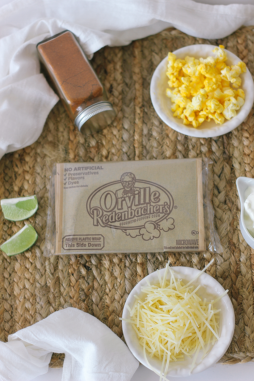 The perfect game day snack with Orville Redenbacher popcorn. #gameday #football #snack #popcorn