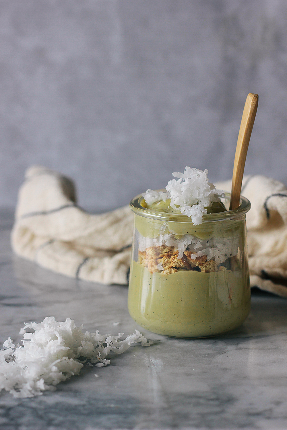 This vegan pudding is made with pistachio milk and vanilla bean. Simple and delicious dessert! Get the recipe at HomemadeBanana.com #recipe #vegan #pudding